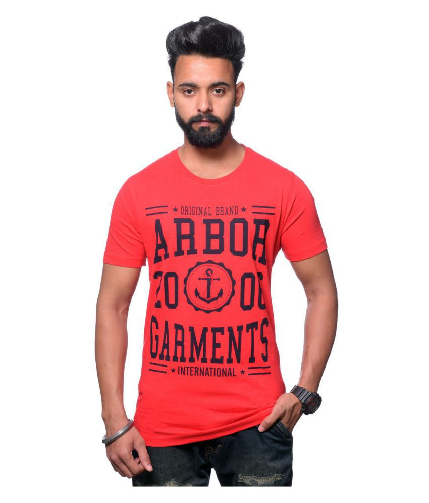 Hunkmart Red Round T-Shirt