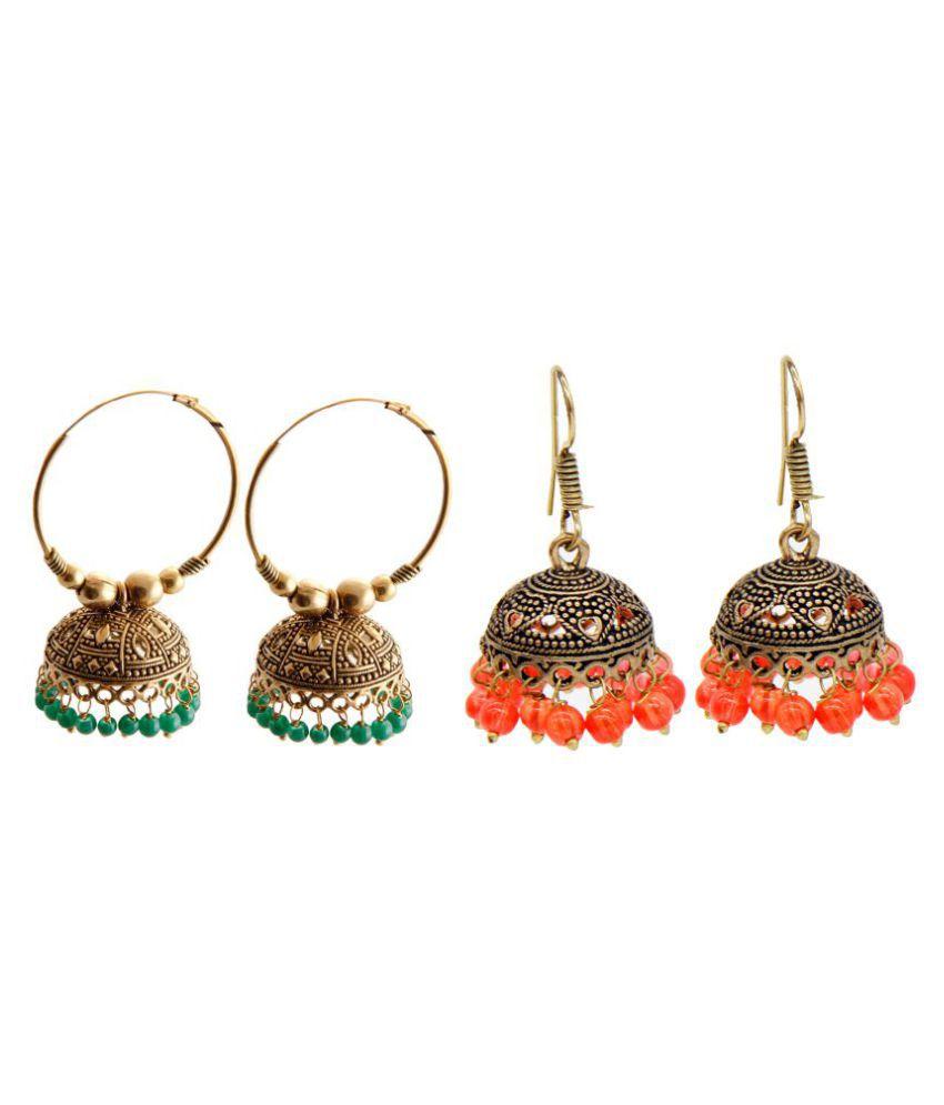 Malifionna Fashionable Earring Combo -MFER043-MER233GR