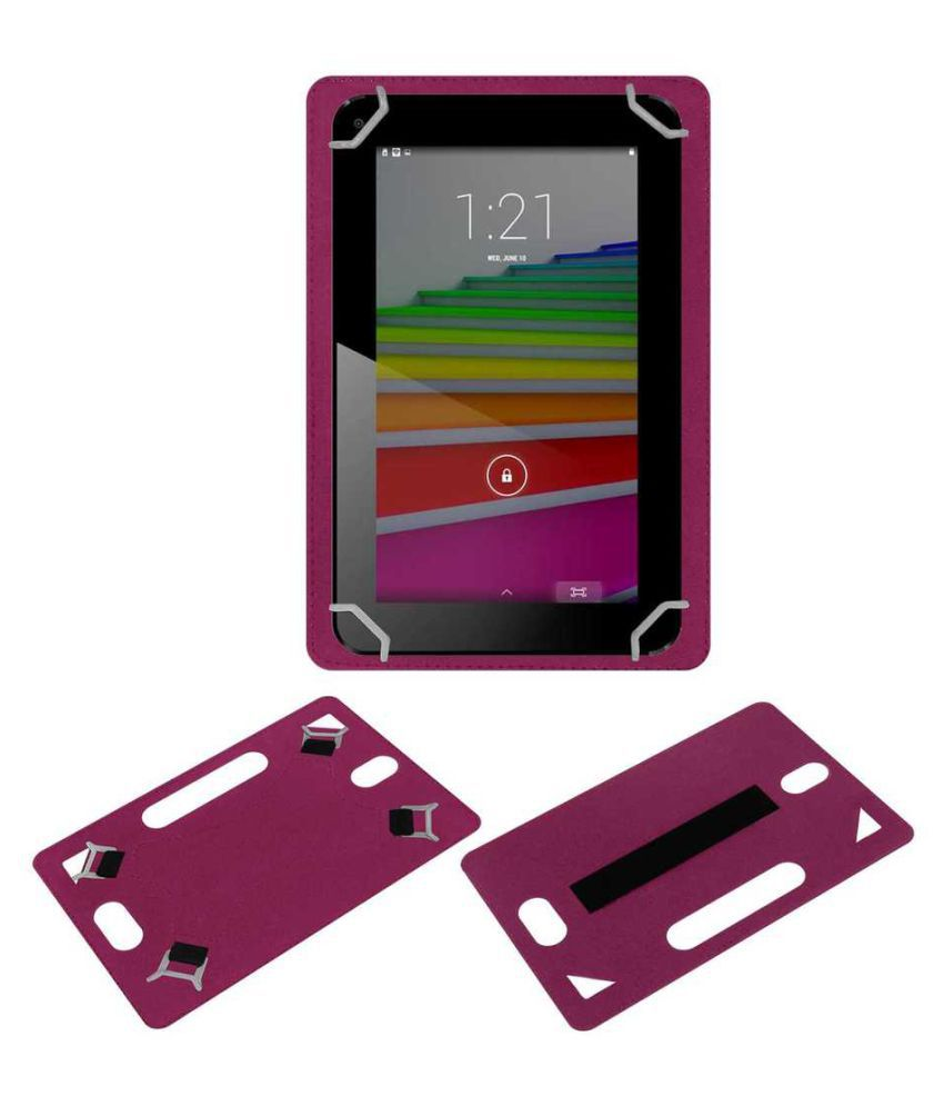 Spice Mi730 Plain Back Cover By ACM Pink