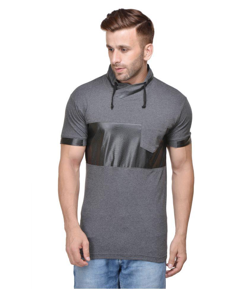 ACOMHARC INC Grey High Neck T-Shirt