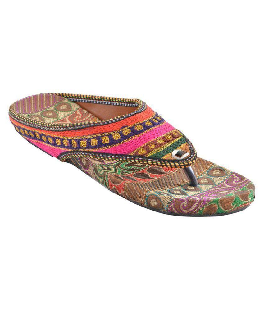 fashion javed Multi Color Ethnic Footwear