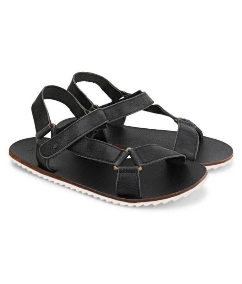 9ed02c89f9b2c UCB Benetton Men 902 Sports Black Sandals Price in India- Buy UCB Benetton  Men 902 Sports Black Sandals Online at Snapdeal