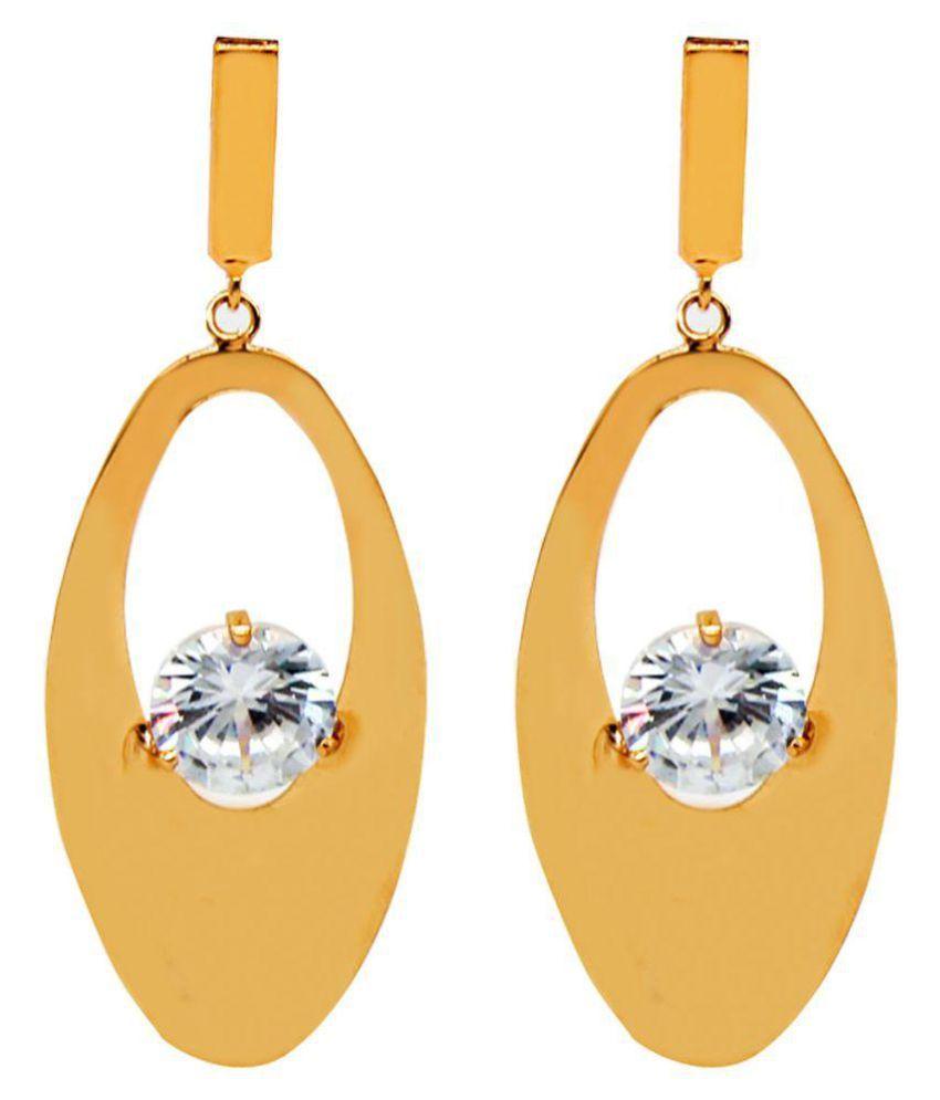 Mali Fionna Gold Plated Oval Shape Earrings