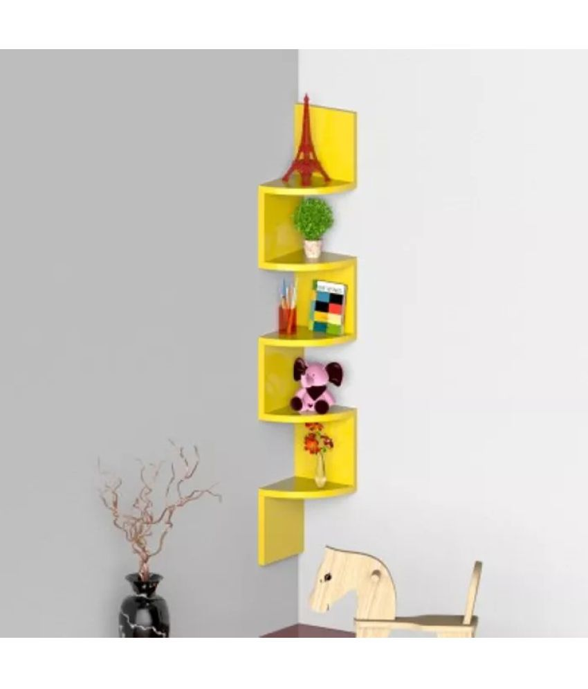 Onlineshoppee Floating Shelf/ Wall Shelf / Storage Shelf/ Decoration Shelf Yellow - Pack of 1
