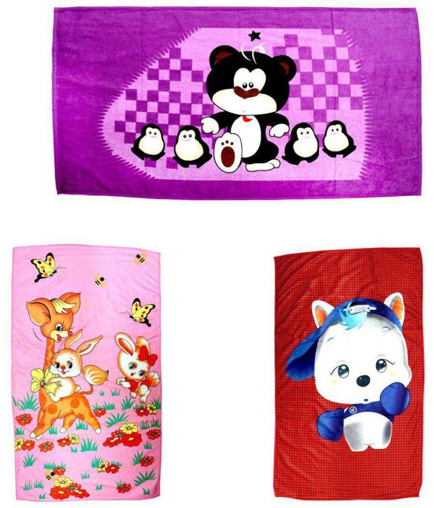 BcH Multi Cotton Bath Towels 3 Pc