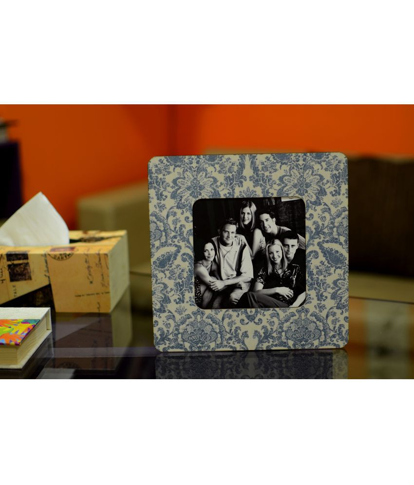 My Own MDF Table Top & Wall hanging Blue Single Photo Frame - Pack of 1
