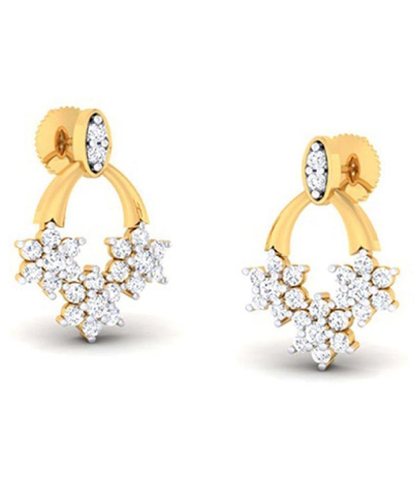 Amantran Gems And Jewels 14k Yellow Gold Pearl Drop Earrings