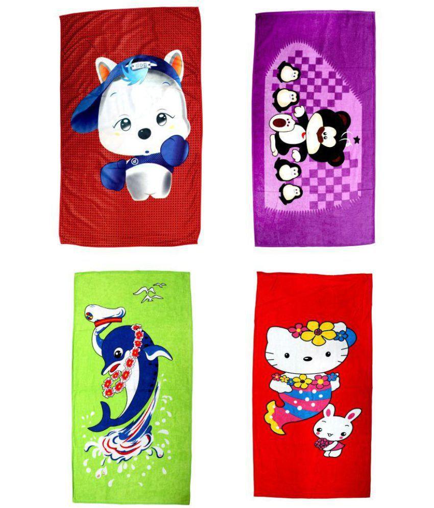 BcH Multi Cotton Bath Towels 4 Pc