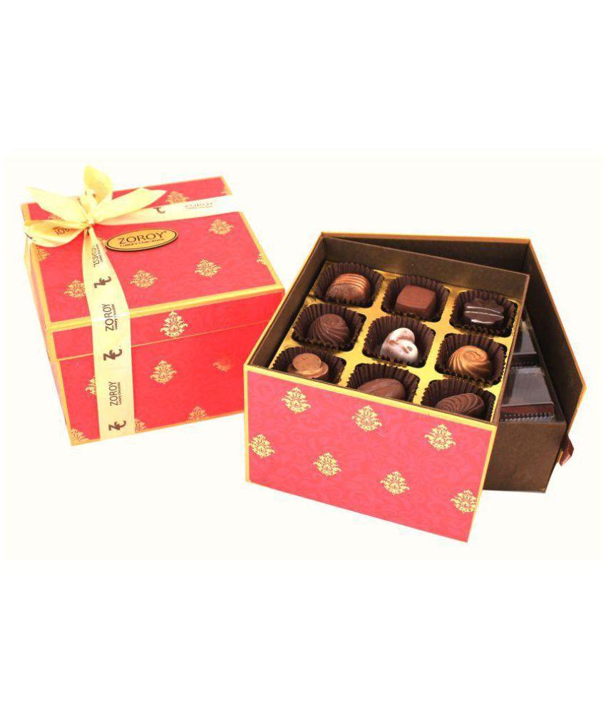 Zoroy Luxury Chocolate Assorted Box Diwali double decker 27 chocolates 300 gm