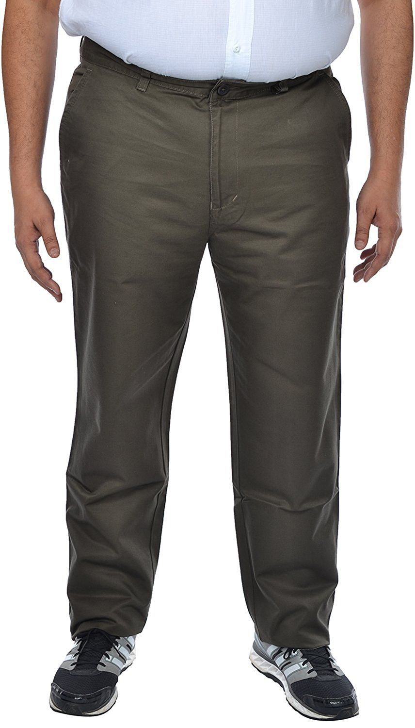 saba Grey Regular -Fit Flat Chinos