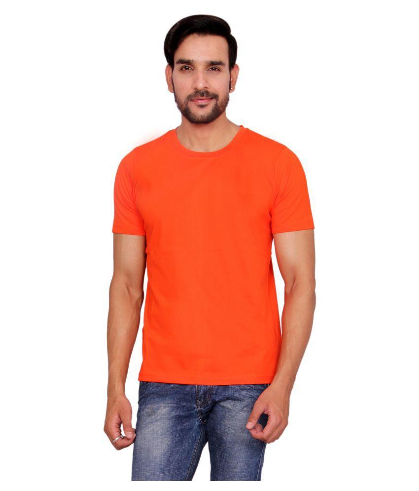 Anchy Orange Round T-Shirt