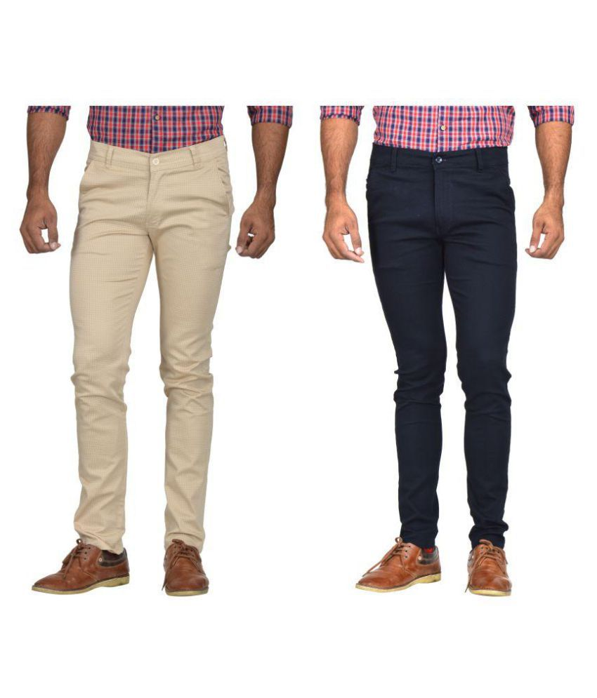 Kushsection Navy Blue Regular -Fit Flat Trousers
