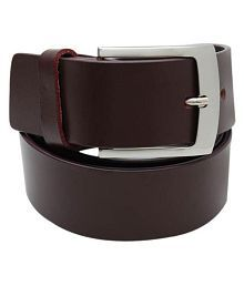 WalletsNBags Brown Leather Formal Belt