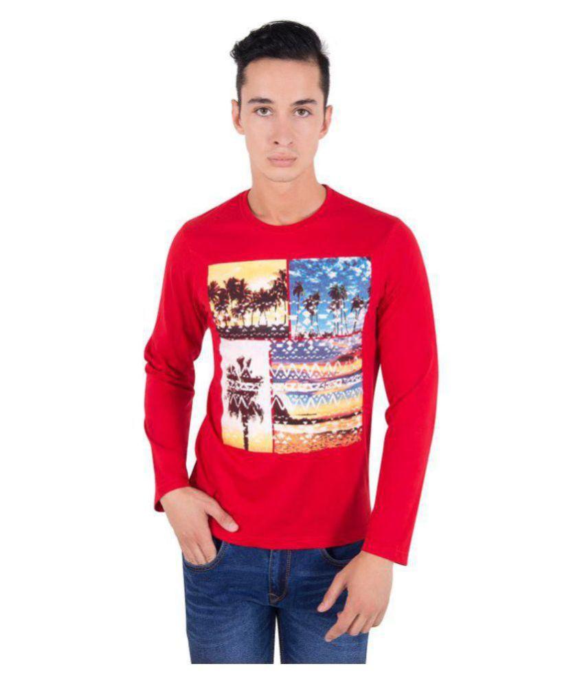 Zoravie Red Round T-Shirt