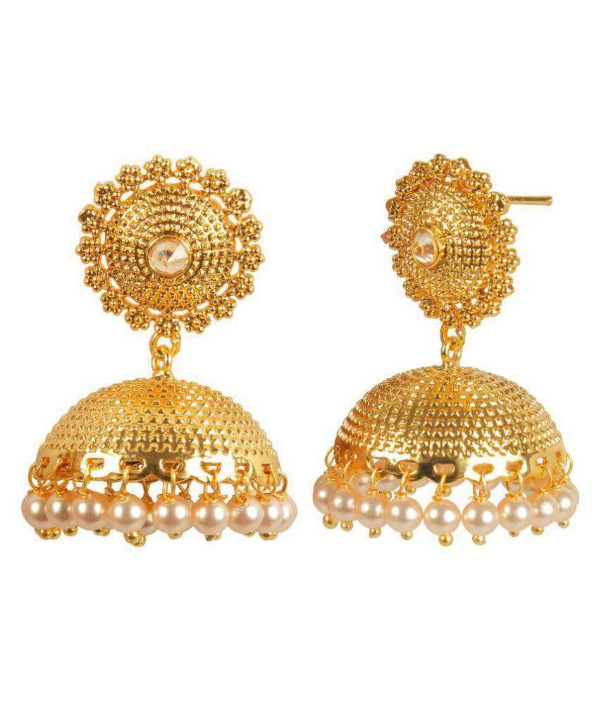 BUNNYTECH 18k Yellow Gold Cubic zirconia Drop Earrings