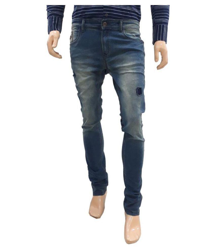 360 Degree Light Blue Slim Jeans
