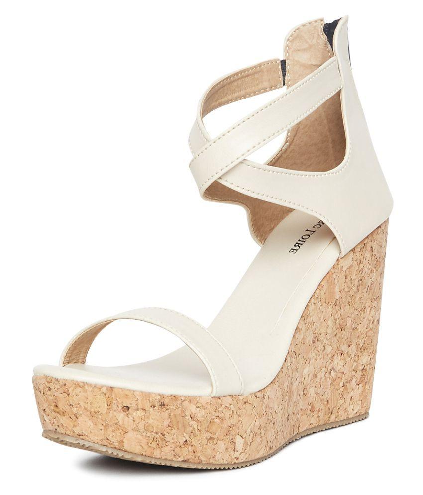 MARC LOIRE Cream Wedges Heels