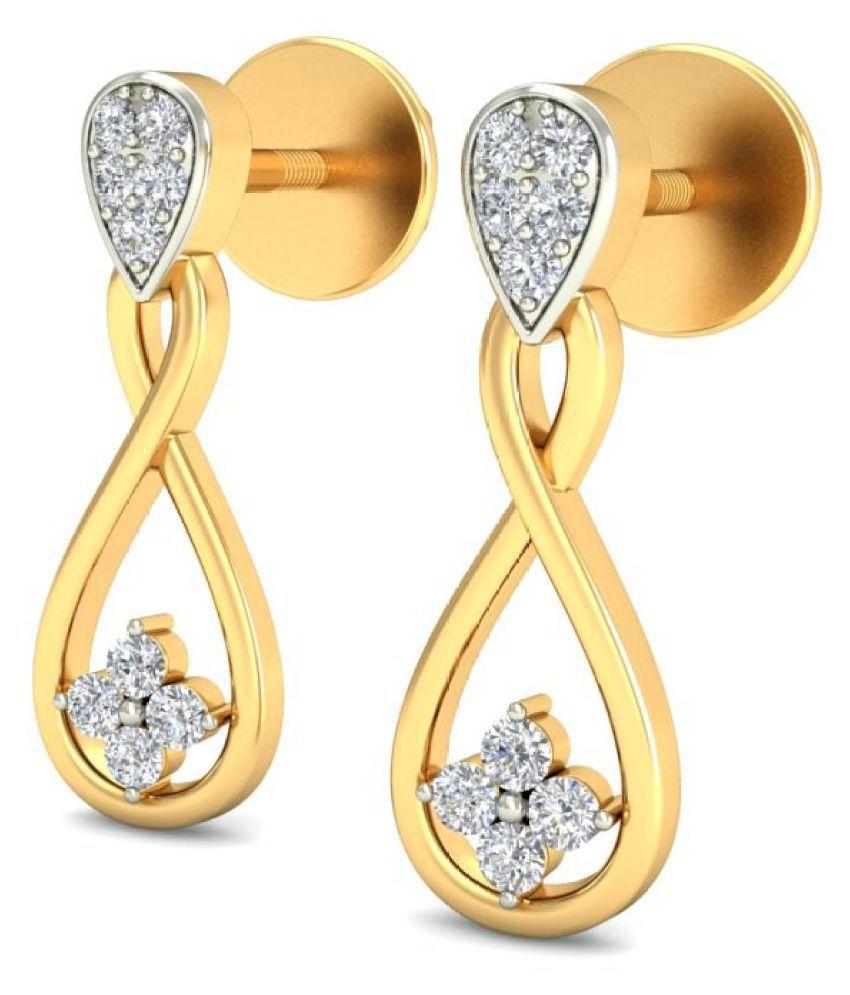 jewelsnext 18k BIS Hallmarked Yellow Gold Diamond Hangings