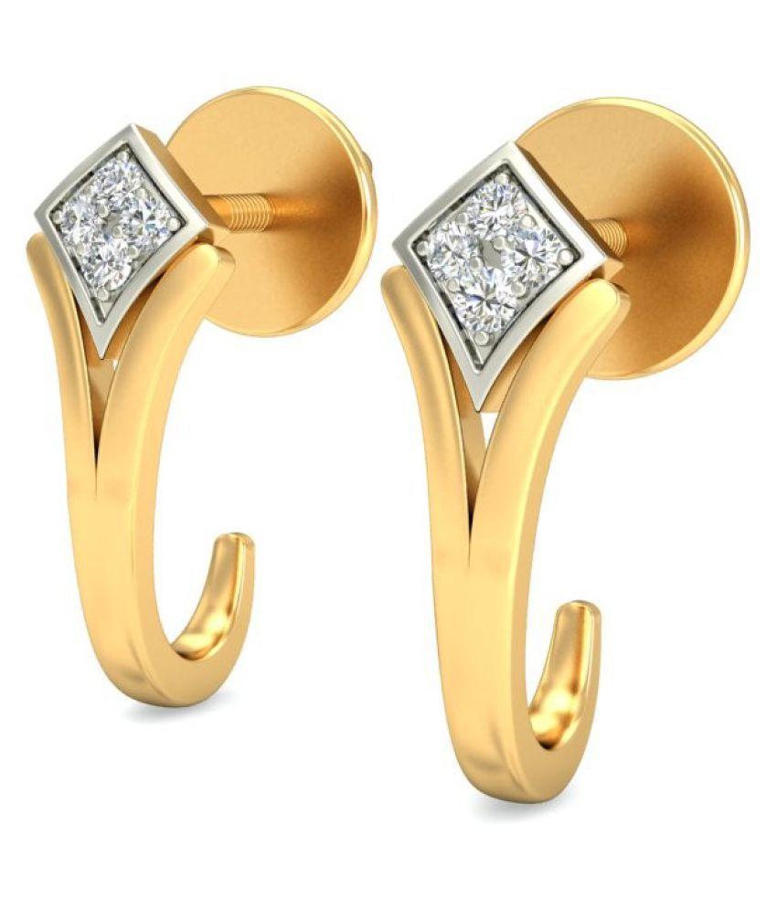 jewelsnext 18k BIS Hallmarked Yellow Gold Diamond Hoop
