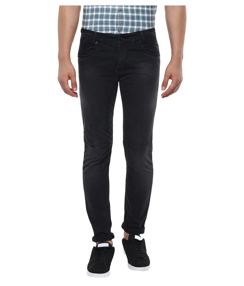 Mufti Black Slim -Fit Flat Trousers