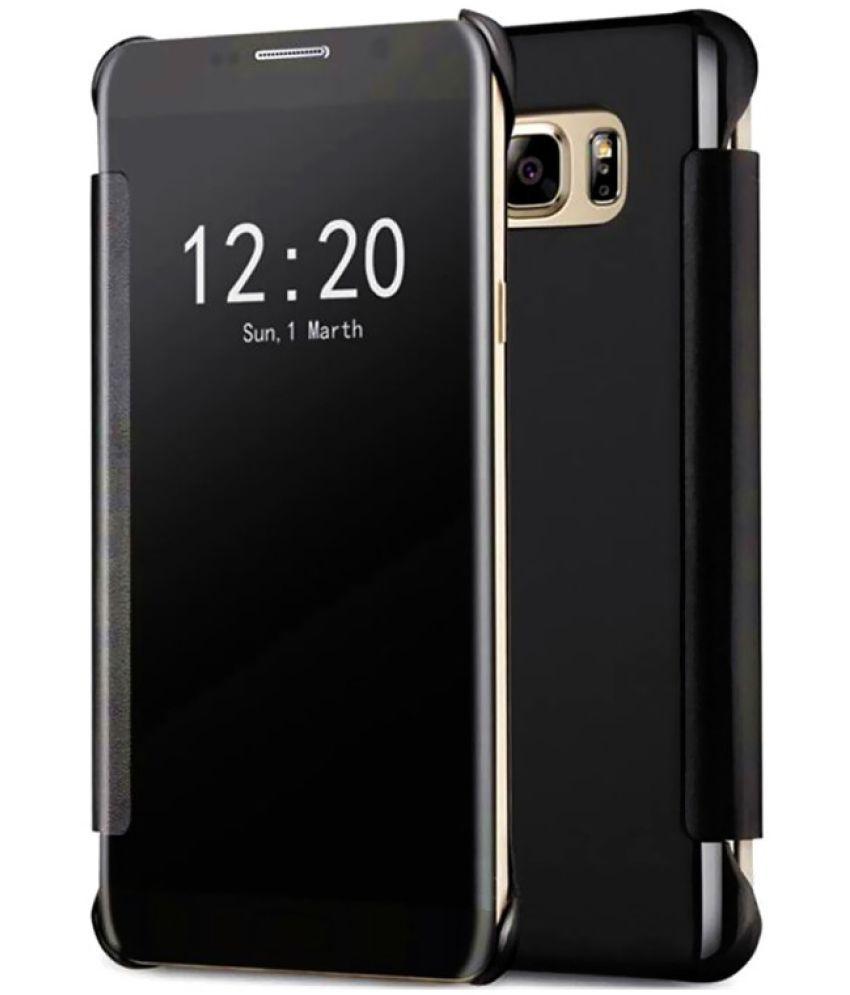 sale retailer 34ce6 c7afa VIVO V5S Flip Cover by ClickAway - Black