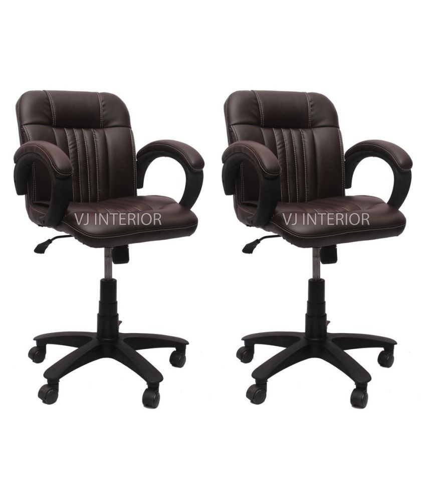 Vj interior leatherette office arm chair combo buy