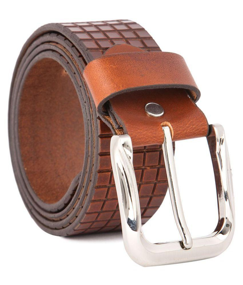 Waist Wire Tan Leather Casual Belts