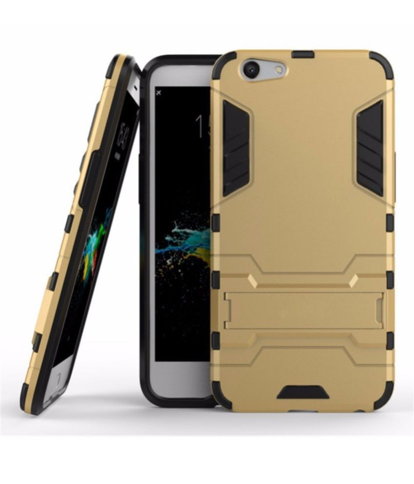 VIVO V5S Cases with Stands OM - Golden