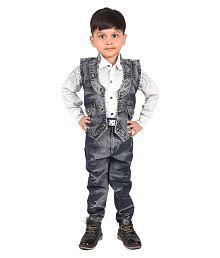 Ziva Boys Grey Denim Suit (Jacket, jeans, shirt)