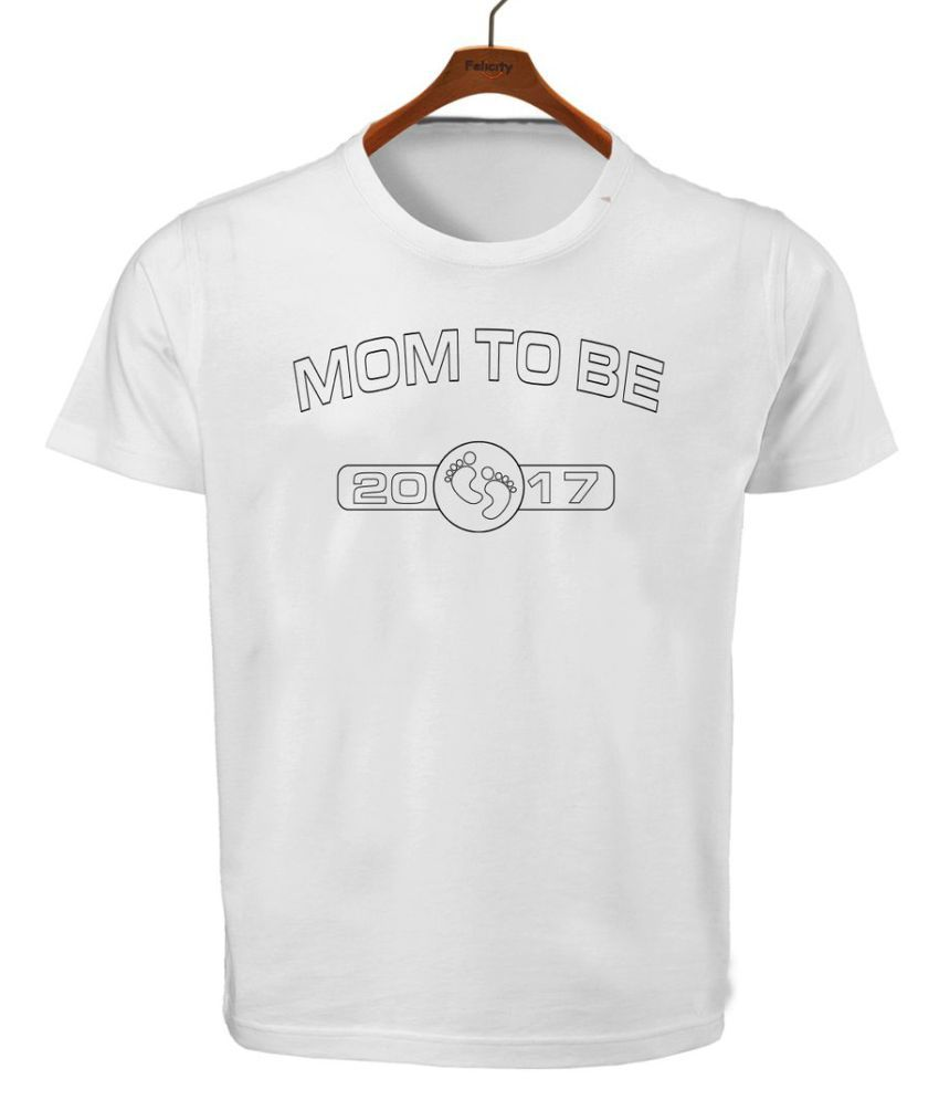 RITZEES White Dry Fit Polyester T-Shirt On Mom To