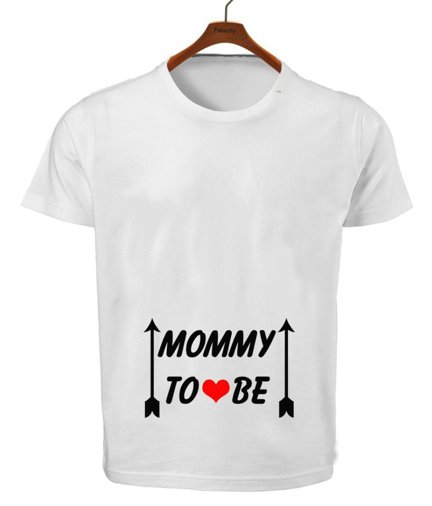 RITZEES White Dry Fit Polyester T-Shirt On Mommy To