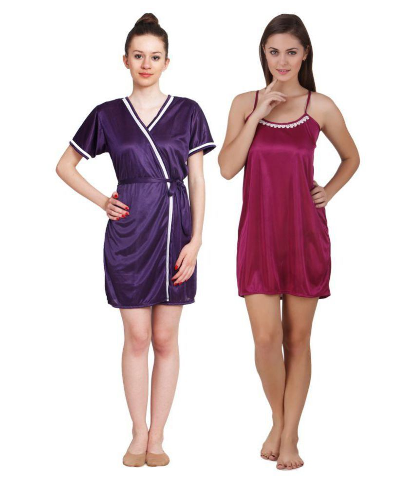 fdde56c6487 Buy keoti Satin Nighty   Night Gowns Online at Best Prices in India -  Snapdeal