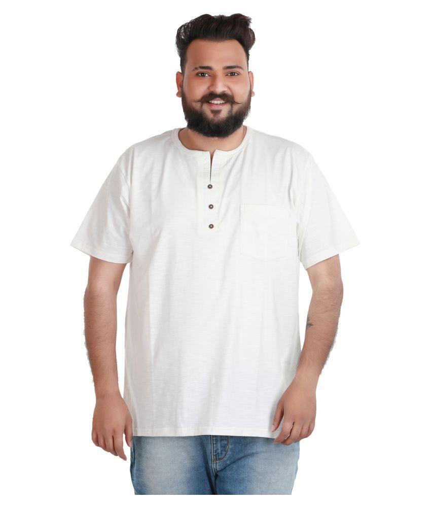 Xmex Off-White Henley T-Shirt