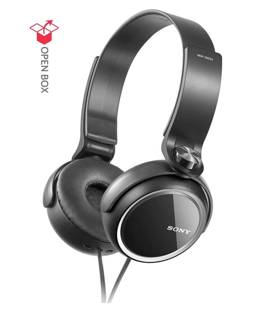 OPEN-BOX Sony MDR-XB400 Over Ear Wired Headphone Without Mic Black