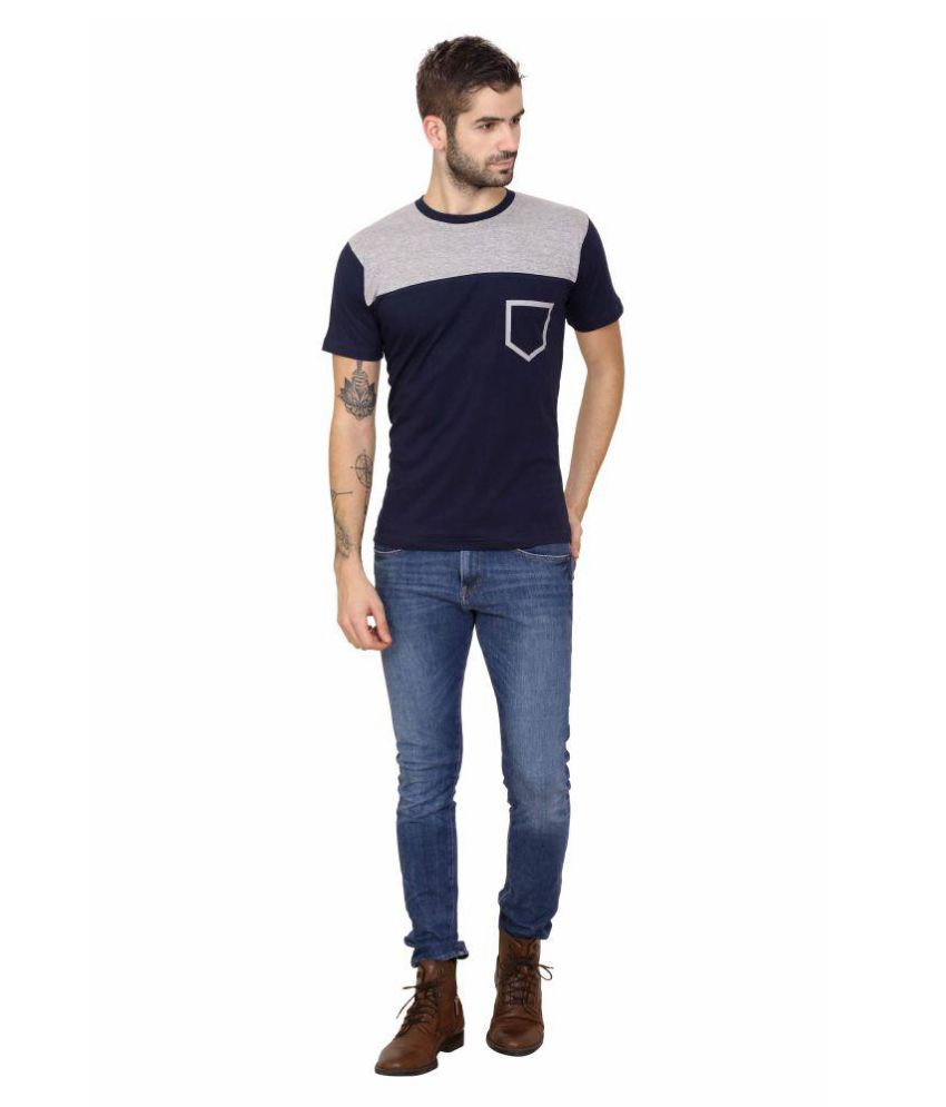 Kasually Black Round T-Shirt