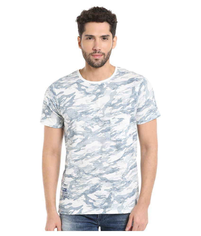 KILLER White Round T-Shirt