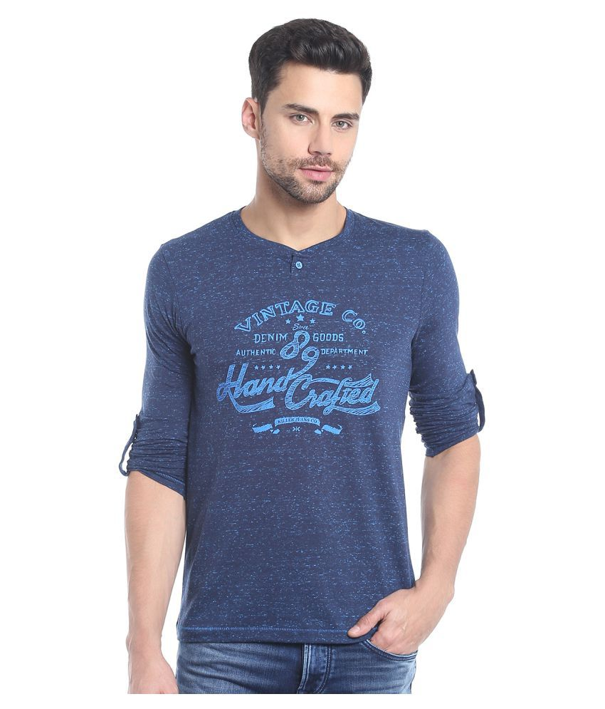 KILLER Blue V-Neck T-Shirt