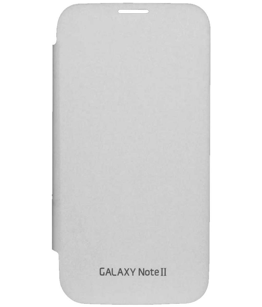 Samsung Galaxy Note 2 Flip Cover by TBZ - White