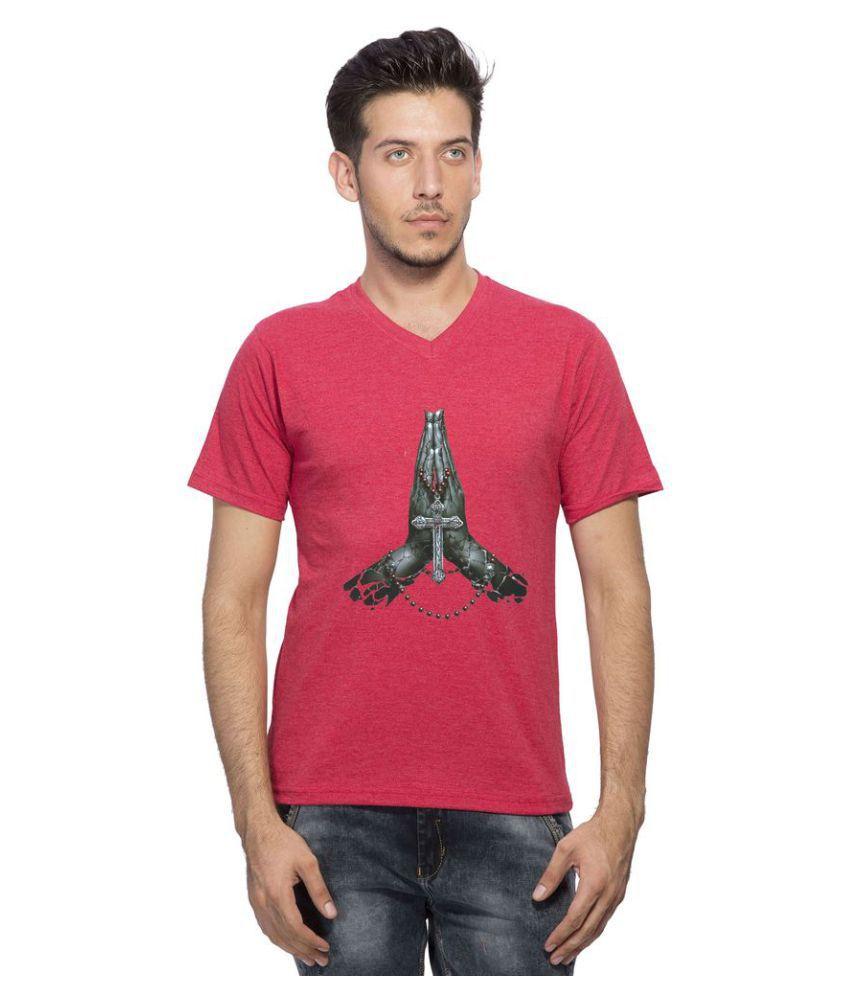 clifton Red V-Neck T-Shirt