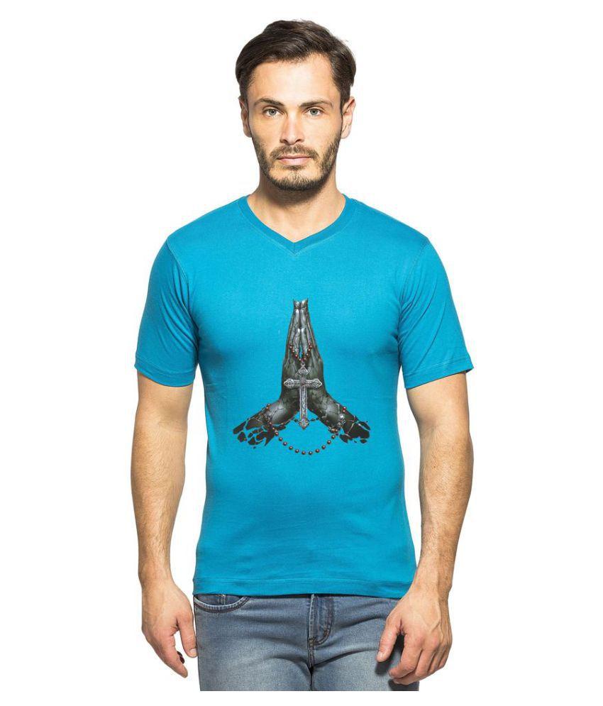 clifton Blue V-Neck T-Shirt