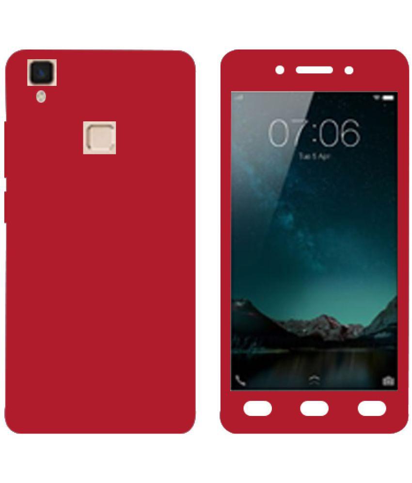 Vivo V3 Max Plain Cases Kosher Traders - Red