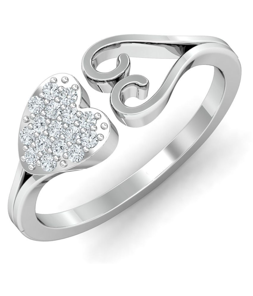 Chandrika Pearls 92.5 Silver Cubic zirconia Ring