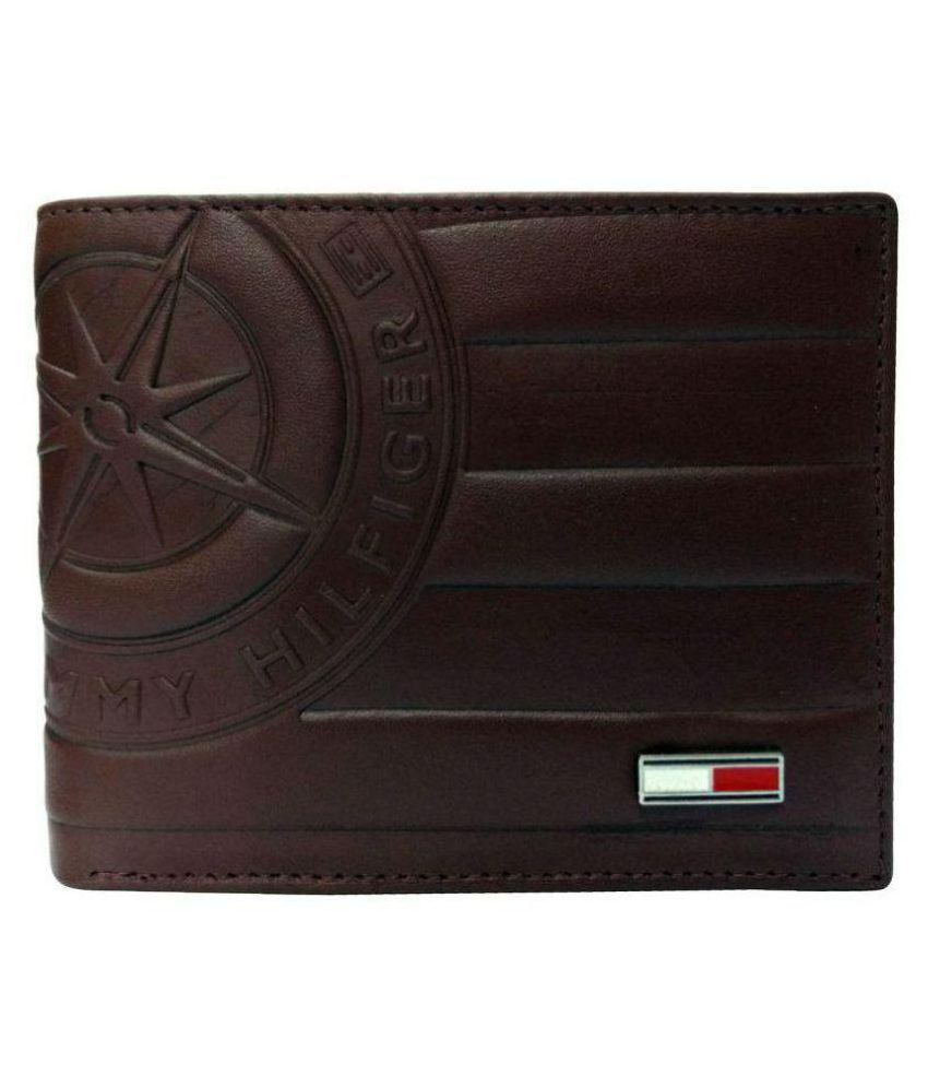 TOMMY HILFIGER EYEWEAR Leather Black Casual Short Wallet