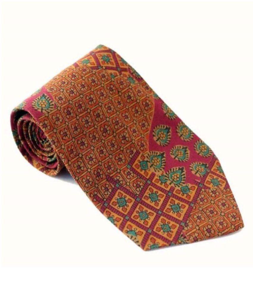 Roccia Indiano Multi Printed Micro Fiber Necktie