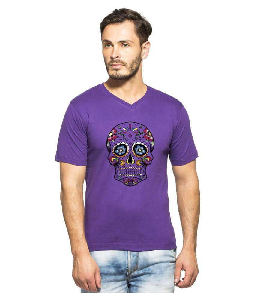clifton Purple V-Neck T-Shirt