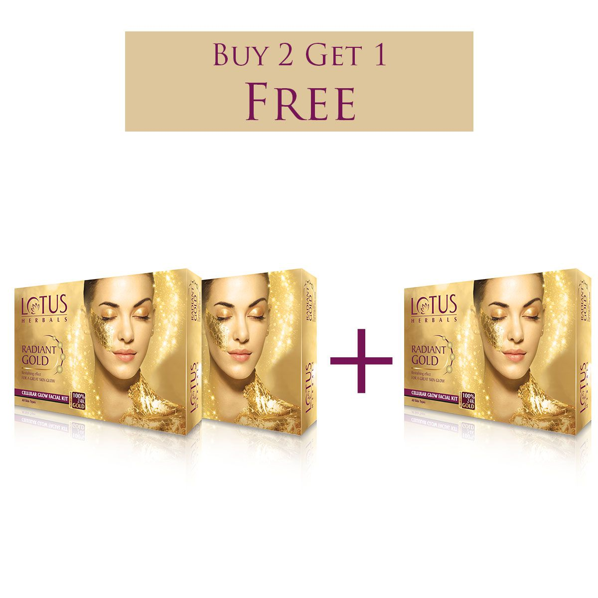 76c483ca22 Buy 2 Get 1 Lotus Herbals Radiant Gold Cellular Glow Facial Kit: Buy Buy 2  Get 1 Lotus Herbals Radiant Gold Cellular Glow Facial Kit at Best Prices in  India ...