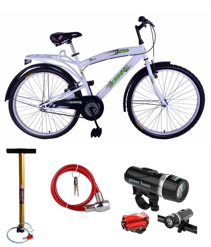 Kross 26t K10 Fully Loaded Adult Bicycle With Free Head Light Tail