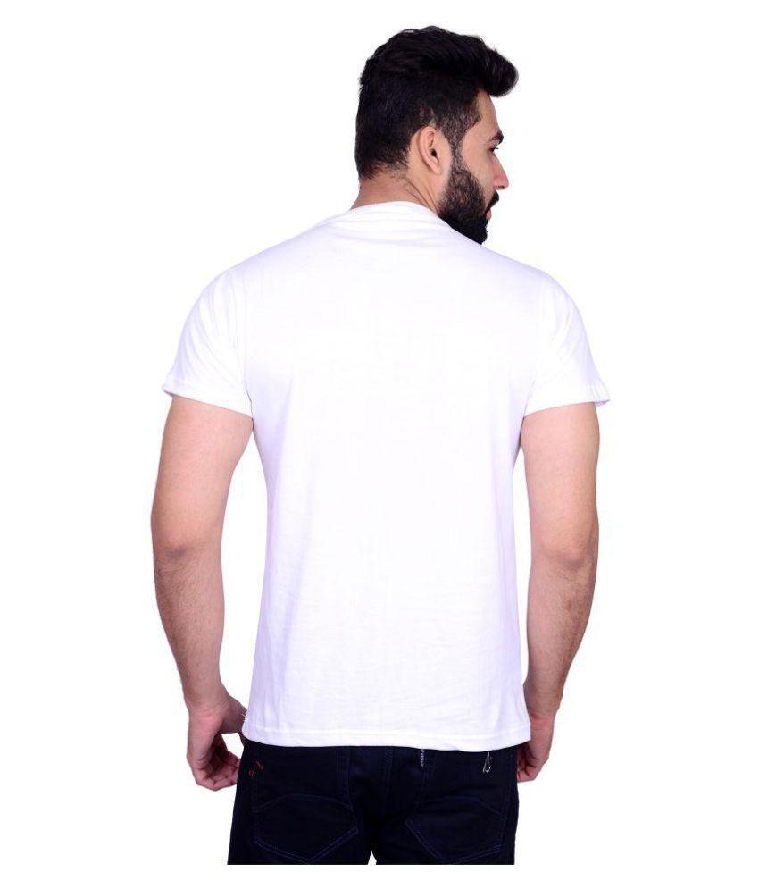 La Milano White Round T-Shirt