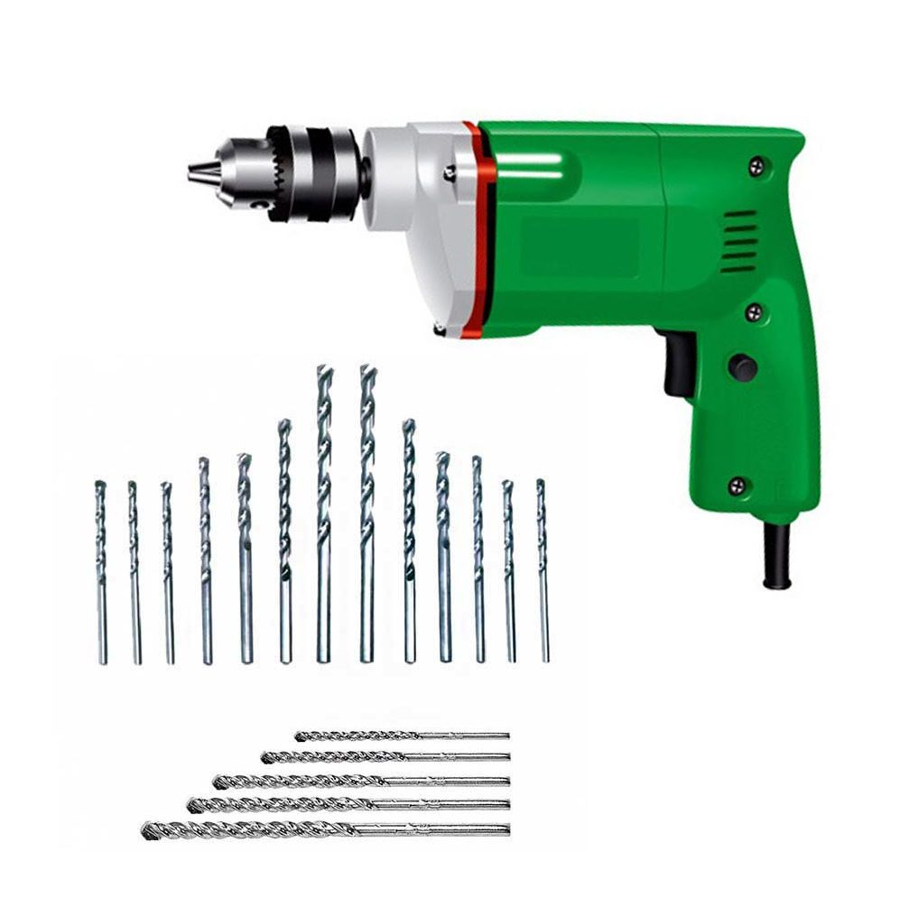 Camel 10mm 350W Drill Machine With 13Pcs HSS Metal + 5 Pcs ...