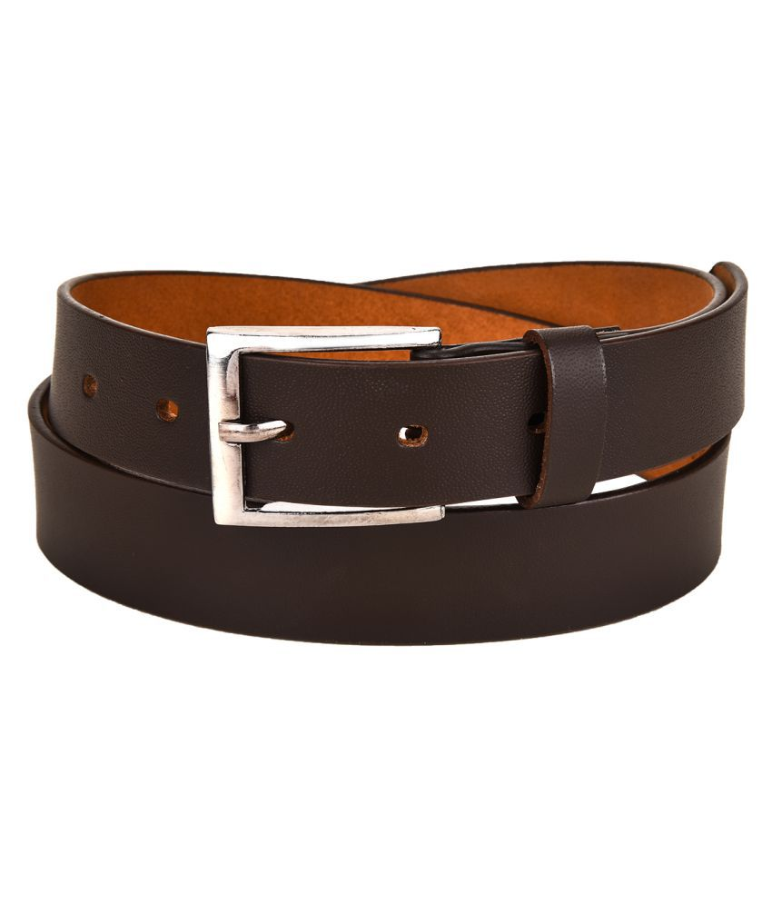 Ukart Brown Faux Leather Casual Belts
